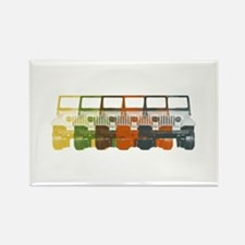 Chromatic Jeep Rectangle Magnet