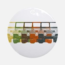 Chromatic Jeep Ornament (Round)