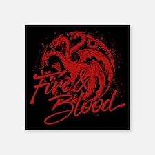 GOT Targaryen Fire And Blood Sticker