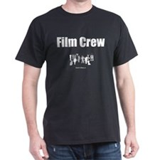 """Film Crew"" Black T-Shirt (FRONT PRINT)"