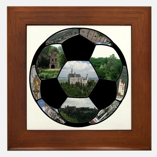German Soccer Ball Framed Tile