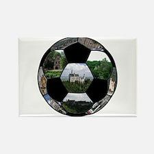 German Soccer Ball Rectangle Magnet