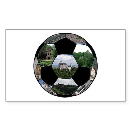 German Soccer Ball Sticker (Rectangle 10 pk)
