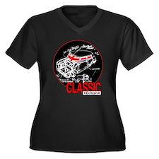 Classic Mini Women's Plus Size V-Neck Dark T-Shirt