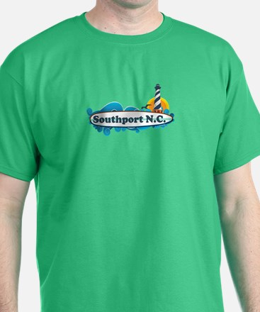 Southport NC - Lighthouse Design T-Shirt