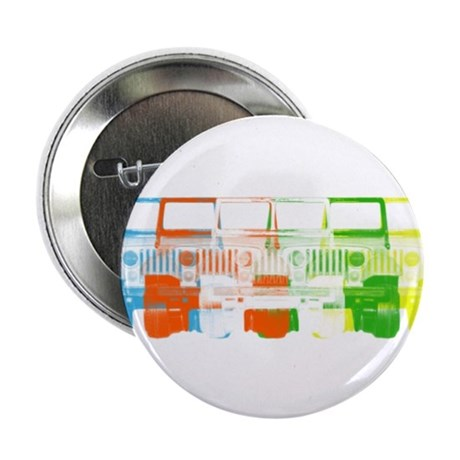 """Bright Chromatic Jeep 2.25"""" Button (100 pack)"""