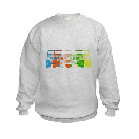 Bright Chromatic Jeep Kids Sweatshirt