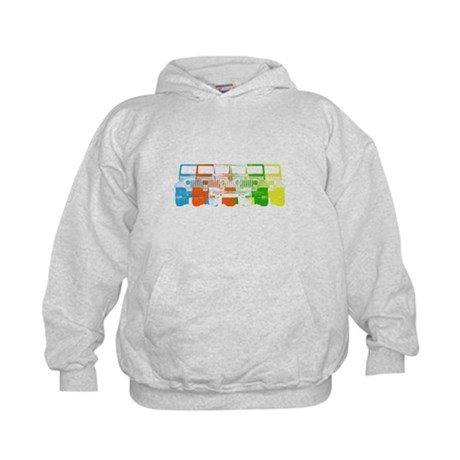 Bright Chromatic Jeep Kids Hoodie