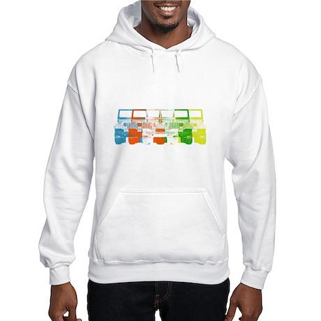 Bright Chromatic Jeep Hooded Sweatshirt