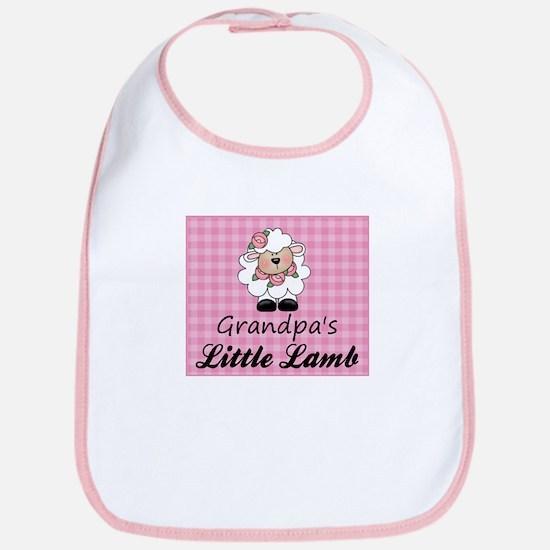 Grandpa's Little Lamb (Girl) Bib