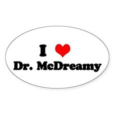 Grey's Dr. McDreamy Oval Sticker