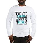 Ovarian Cancer Can't Long Sleeve T-Shirt