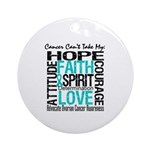 Ovarian Cancer Can't Ornament (Round)