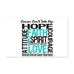 Ovarian Cancer Can't Mini Poster Print