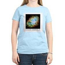 Crab Nebula Women's Pink T-Shirt