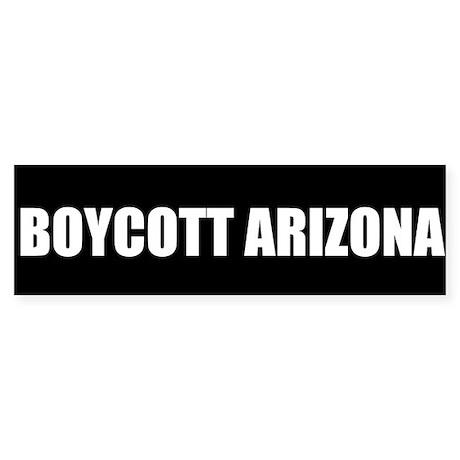 Boycott Bumper Sticker Black