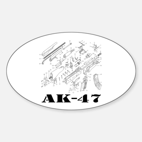 Cute Ak Sticker (Oval)