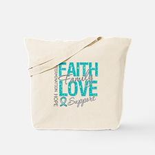 OvarianCancer Faith Tote Bag