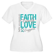 OvarianCancer Faith T-Shirt