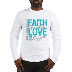 OvarianCancer Faith Long Sleeve T-Shirt