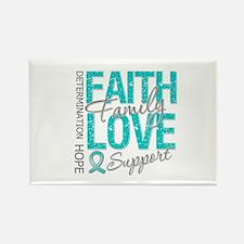 OvarianCancer Faith Rectangle Magnet