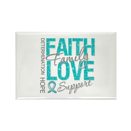 OvarianCancer Faith Rectangle Magnet (10 pack)