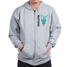 OvarianCancer Cross Zip Hoodie