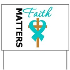 OvarianCancer Cross Yard Sign