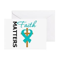 OvarianCancer Cross Greeting Cards (Pk of 10)