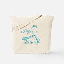 OvarianCancer HopeBelieve Tote Bag