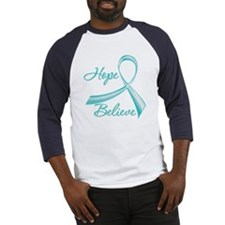 OvarianCancer HopeBelieve Baseball Jersey