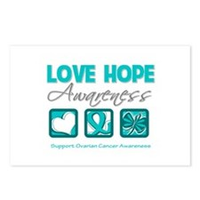Ovarian Cancer LoveHope Postcards (Package of 8)