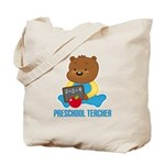 Preschool Teacher Bear Tote Bag
