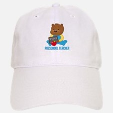 Preschool Teacher Bear Baseball Baseball Cap