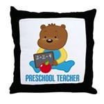 Preschool Teacher Bear Throw Pillow