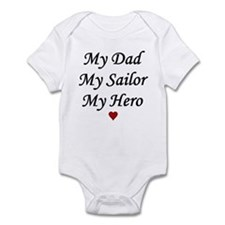 Navy My Dad Sailor Hero Infant Creeper