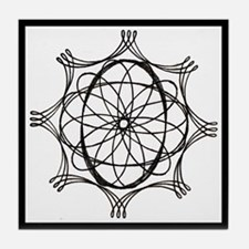 Spirograph Tile Coaster