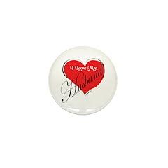 I Love My Husband Mini Button (10 pack)