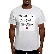 Navy My Brother Sailor Hero Ash Grey T-Shirt