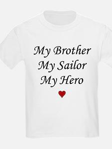 Navy My Brother Sailor Hero Kids T-Shirt
