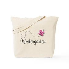 Pink Butterfly Kindergarten Tote Bag