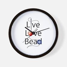 Live,Love,Bead Wall Clock