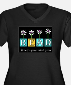 Read - It helps your mind gro Women's Plus Size V-