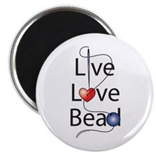 """Live,Love,Bead 2.25"""" Magnet (100 pack)"""