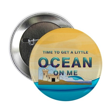 "Ocean Time 2.25"" Button (10 pack)"