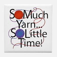 So Much Yarn..... Tile Coaster