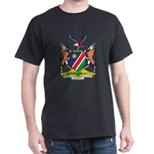 Namibia Coat Of Arms Black T-Shirt