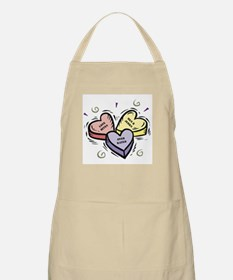Customizable Candy Hearts BBQ Apron
