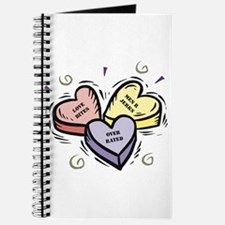 Customizable Candy Hearts Journal