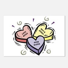 Customizable Candy Hearts Postcards (Package of 8)